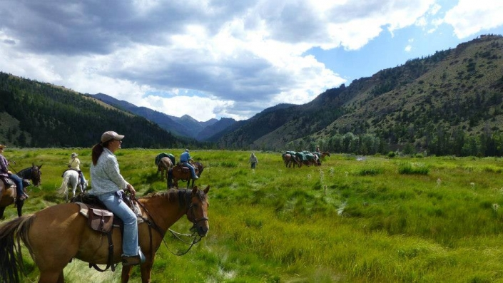 Beautiful Scenery on Summer Pack Trips with Sheep Mesa Outfitters.