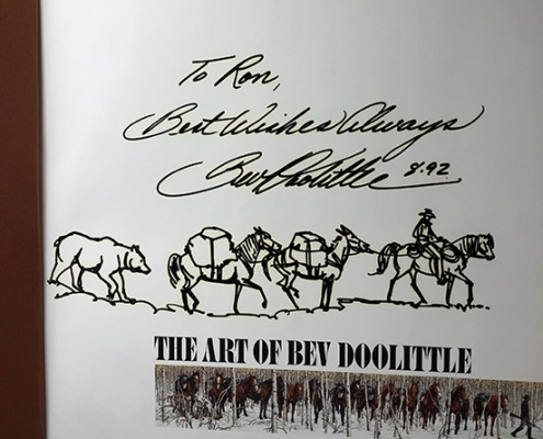 Bev Doolittle Custom Logo ror Sheep Mesa Outfitters