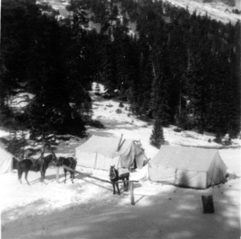 Original Sheep Mesa Outfitters Hunting Camp is much the same as it is today