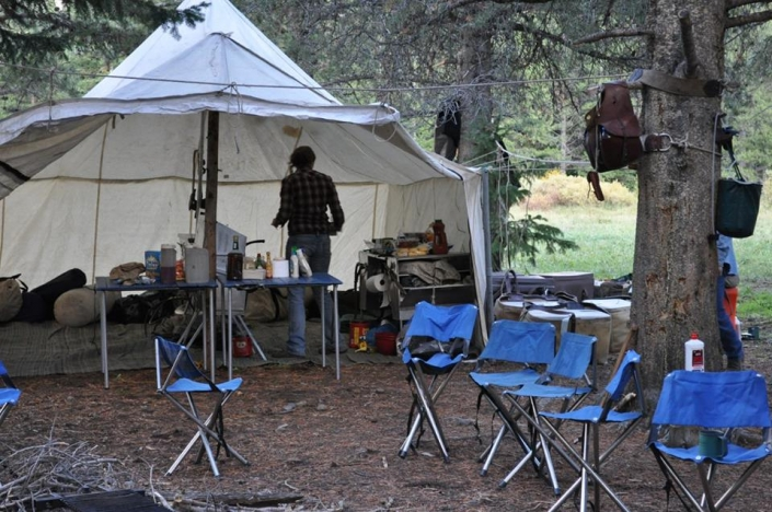 First Class Meals in Camp with Sheep Mesa Outfitters